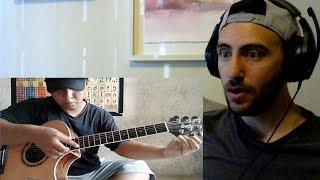 AMERICAN REACTION - Alip ba ta - Lingsir Wengi - fingerstyle guitar cover
