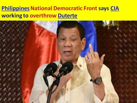 Philippines National Democratic Front says CIA working to overthrow Duterte