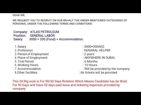 #JOBOFTHEDAYD #jobofthedayd Atlas Petroleum Dubai company high  salary3000+200