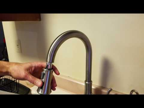 Price Pfister kitchen faucet repair.  Pull down spray nozzle.