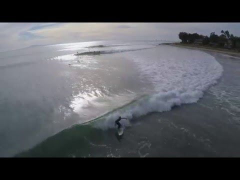Great Day at Rincon - Aerial Footage Dec 5 2015