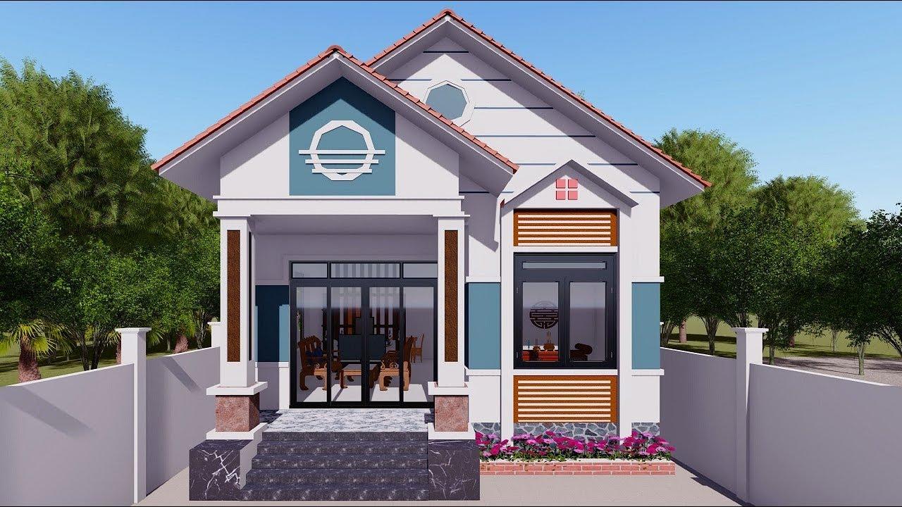 Hồ sơ thiết kế nhà cấp 4 mái thái rẻ đẹp  giá 500 triệu diện tích 7mx15m