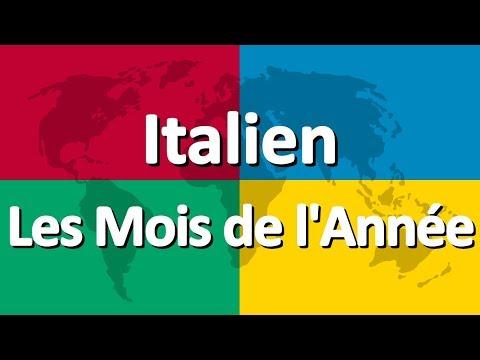 Apprendre l'italien partie 2   Les Mois de l'Année
