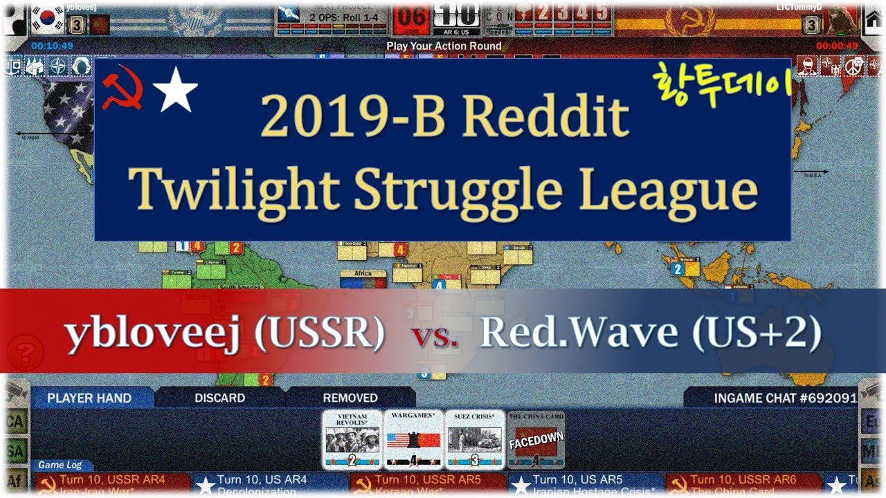 2019-B Reddit Twilight Struggle League - ybloveej(USSR) vs  Red Wave(US+2)