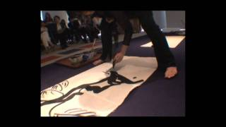 Miyuki Ueda performed live painting, and drew each images of 24 sea...