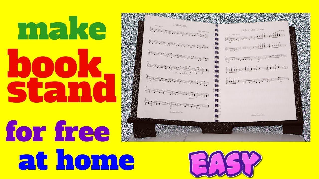 How To Make Book Stand Holder Easy Homemade Cardboard Pedestal For