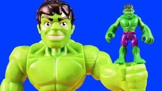 Marvel Superhero Adventures Mega Mighties Hulk Family Rescues Spider-man Family! Superhero Toys