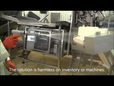 Sagewash Sanitizing Fish Processing  Industry demonstration with  english sub titles