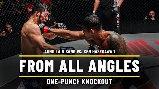 Aung La N Sang vs. Ken Hasegawa 1 | ONE From All Angles