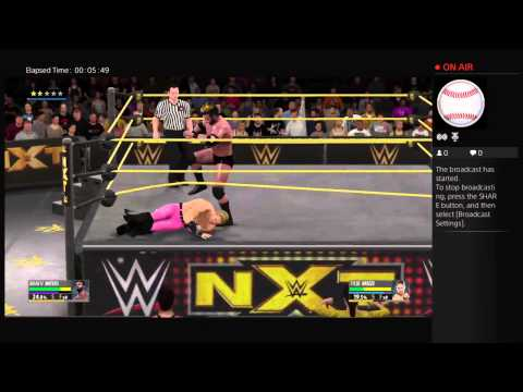 WWE 2K16 Brian H Waters vs Tyler Breeze Career mode PS4 Broadcast