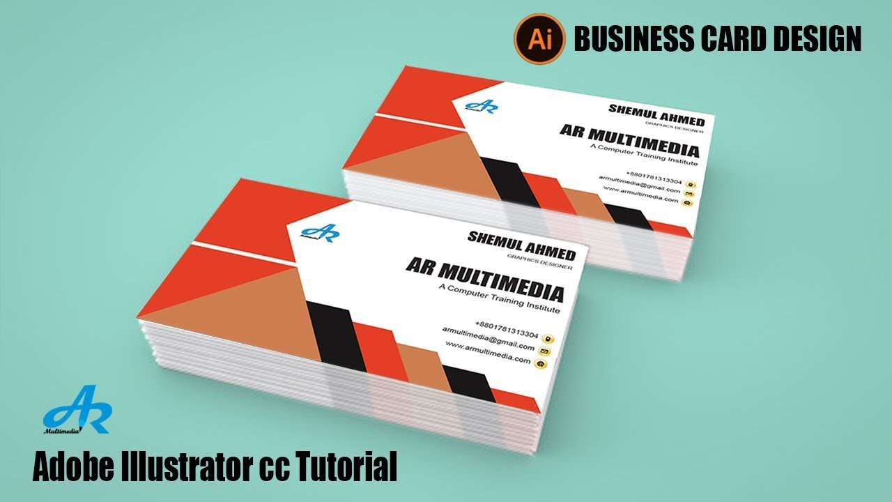 How To Create A Business Card Design In Illustrator Cc 2018 2017