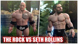WWE 2K Battlegrounds – The Rock Vs Seth Rollins