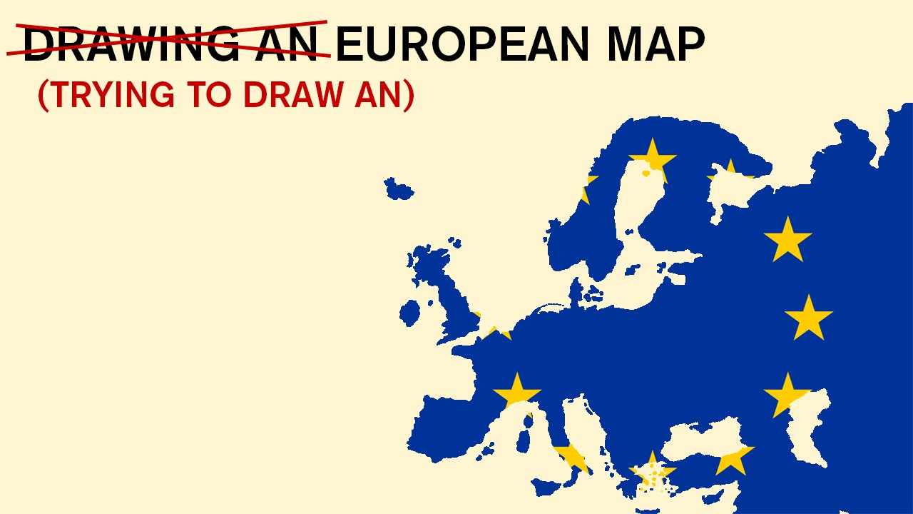 Drawing an european map from my memory the map 1 youtube drawing an european map from my memory the map 1 gumiabroncs Images