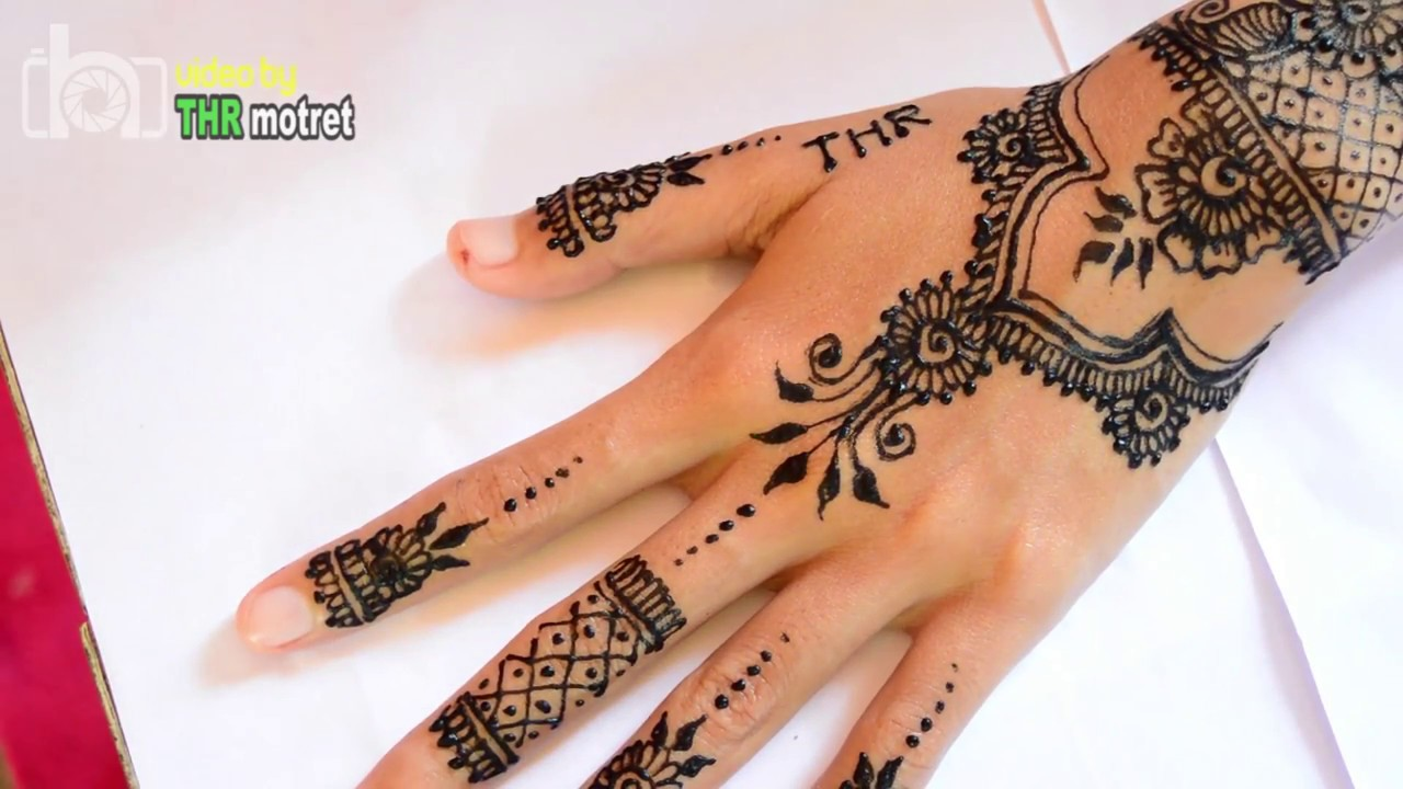 Black Henna Design By Anit Tutorial Mehndi Henna Hitam Golecha Step
