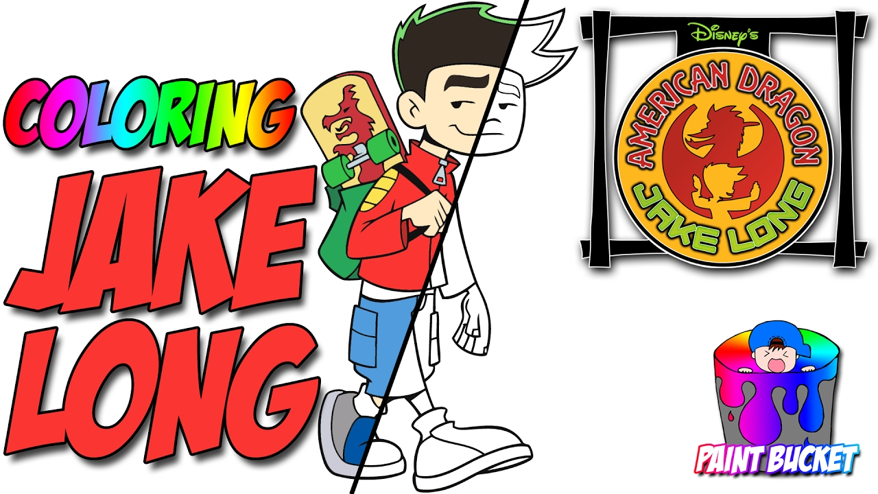 American Dragon Jake Long Coloring Pages  Disney Coloring Book