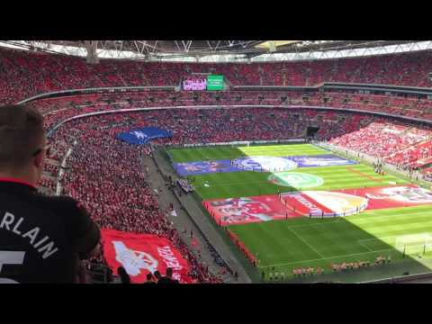 Grenfell choir sing bridge over troubled water before the community shield 2017