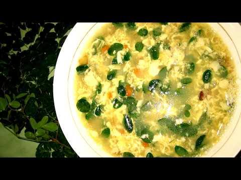 Easy Egg Soup with Moringa Leaves (Malunggay)
