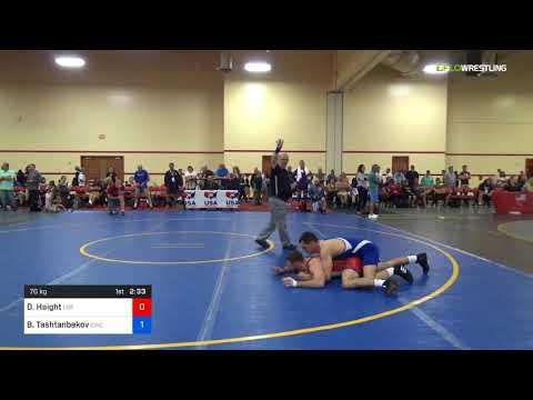 2018 Marine Corps US Open/Masters A Greco Roman 70 RR Rnd 2 - David Haight (Los ) Vs. Bakytbek Tas