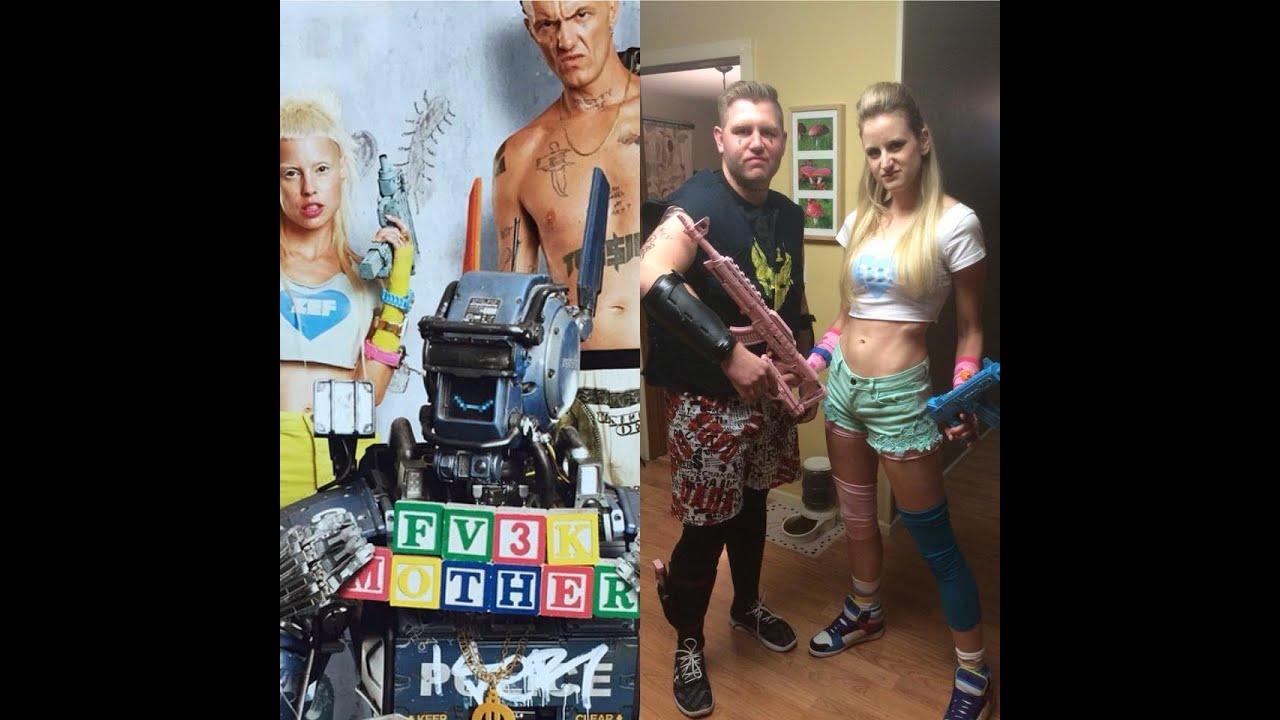 sc 1 st  YouTube & Yolandi and Ninja Chappie Cosplay DIY Halloween Costumes - YouTube