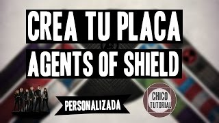 Agents of SHIELD | Crea tu Placa (PSD)