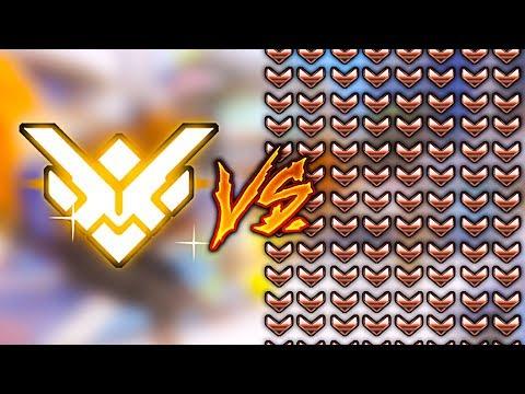 3 GRANDMASTERS vs 200 BRONZE - Overwatch thumbnail