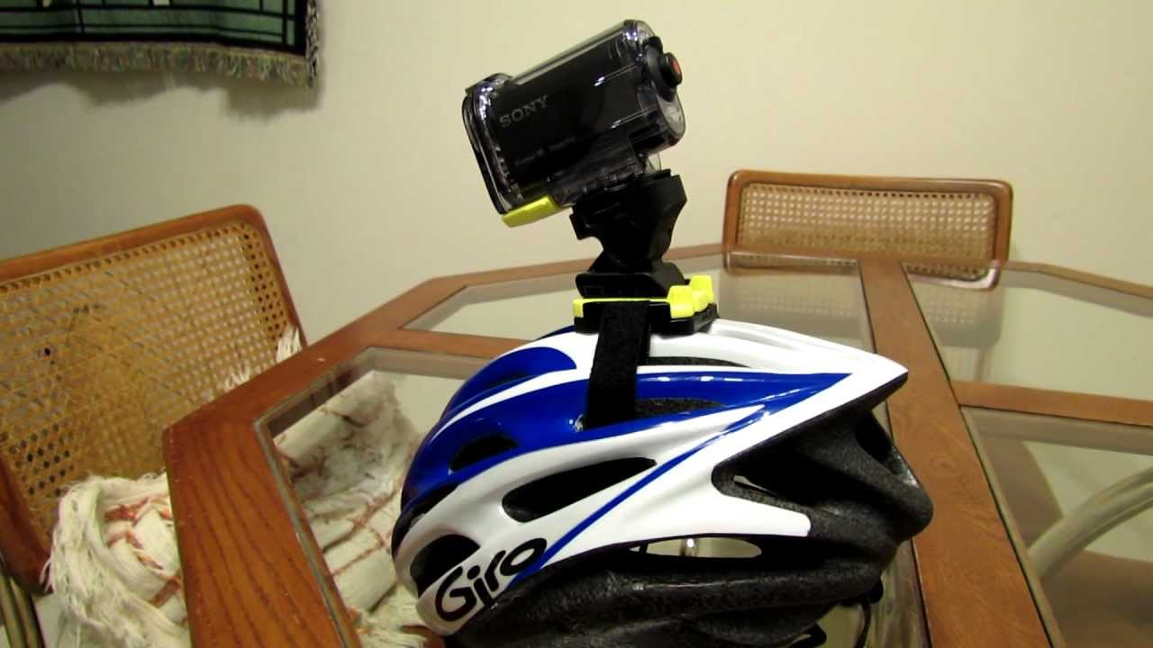 Sony HDR-AS10 Action Cam - Helmet Mount Modification