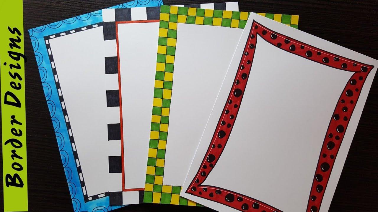 Easy   Border designs on paper   border designs   project ...