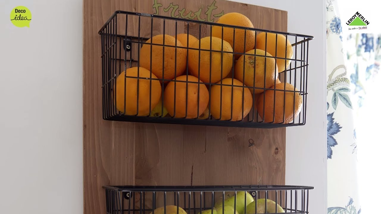 Crea un frutero de pared leroy merlin youtube for Losetas vinilicas pared leroy merlin