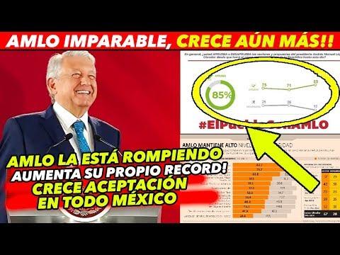 AMLO IMPARABLE, AUMENTA MÁS SU APROBACIÓN EN TODO MÉXICO