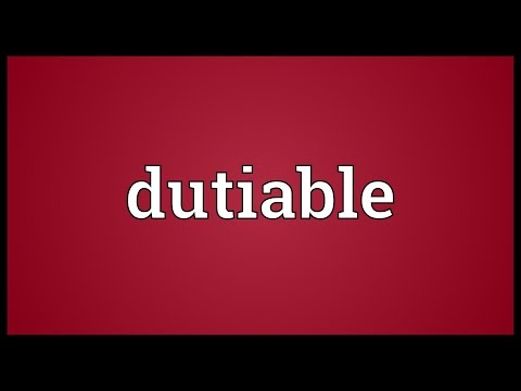 Header of dutiable