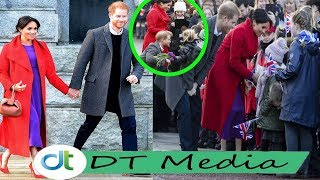 Harry shocks when Meghan Markle slapped a baby girl when she tried to touch Meghan's stomach