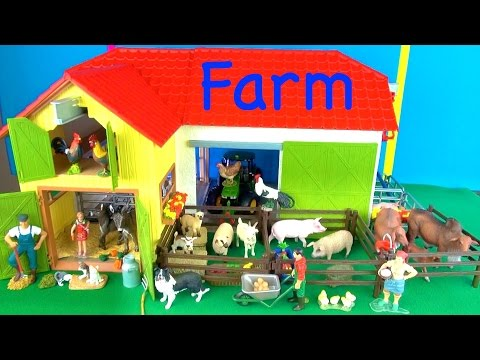 Learn Farm Animals - Best Kids Toy Animals - Educational - Learn about Farm Animals in English