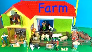 Learn Farm Animals - Best Kids Toy Animals - Educational - Learn about Farm Animals in English(Hi its Kerry! Learn about Farm Animals. Come visit my new farm. In this educational video you will get to see the new barn. The Rope winch is fun to use and I ..., 2016-10-15T20:28:34.000Z)