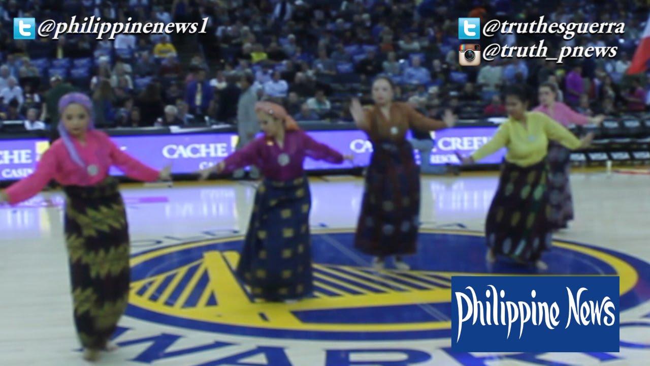 Parangal dance company philippine folk dance - Parangal Dance Company Performs During Filipino Heritage Night With The Warriors