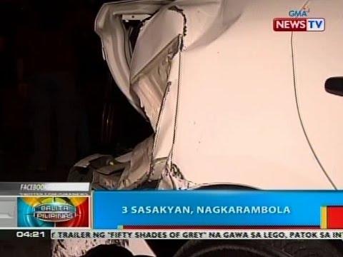 BP: 3 sasakyan, nagkarambola sa Quezon City