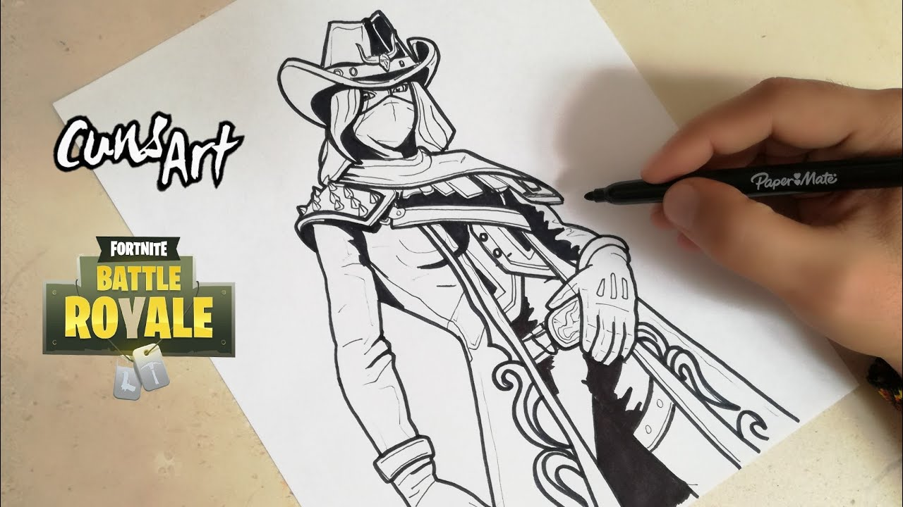 Como Dibujar A Calamidad Fortnite How To Draw Calamity