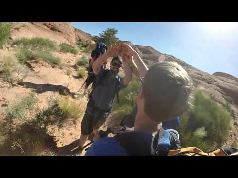 Time Lapse hike Coyote Gulch to Jacob Hamlin's Arch, Utah | HD 1080p 60 fps Escalante Hike 2014