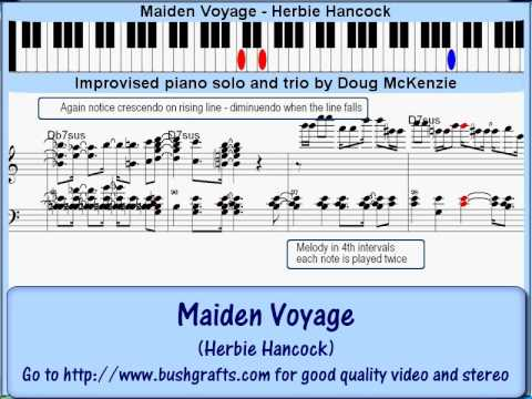 Piano maiden voyage piano chords : Maiden Voyage' (Herbie Hancock) - jazz piano lesson - YouTube