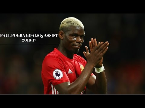 Paul Pogba   All Goals U0026 Assists For Manchester United 2016/17