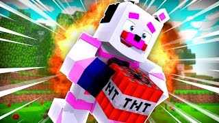 Funtime Freddy Plays With TNT ?!   Minecraft FNAF Roleplay