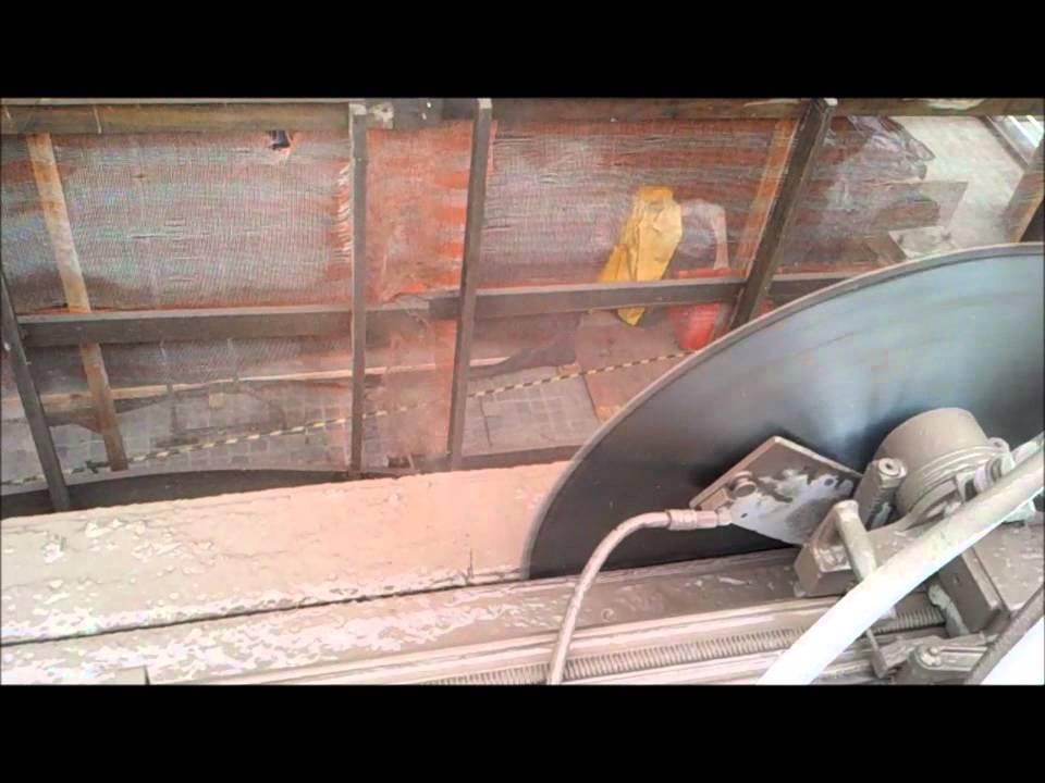 Air Wall Sawing : Sul air corte de laje em concreto wall saw youtube