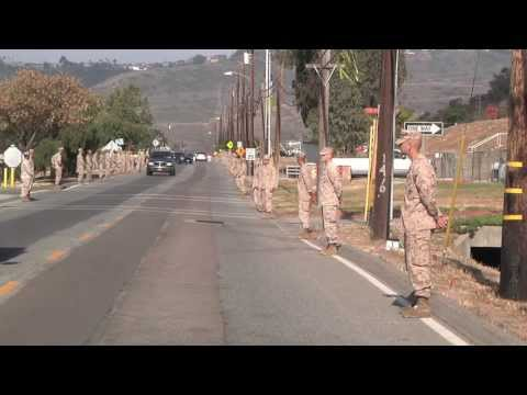5th Marines OEF Memorial Escorted Delivery