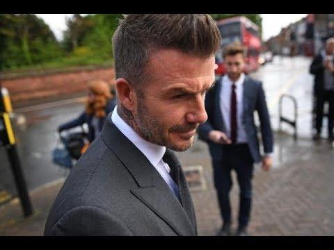 Mengenakan jas abu-abu, David Beckham tiba di pengadilan yang akan menghukumnya enam bulan tidak boleh menyetir (gambar dari; https://www.youtube.com/watch?v=S8RrzfzvdTI)