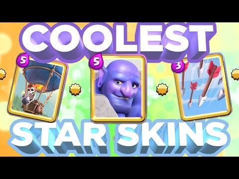 Top 10 COOLEST Star Level Skins In Clash Royale! (2020) | Part 1