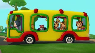 The Wheels on the Bus Animals Edition | Rhymes for Kids | Infobells