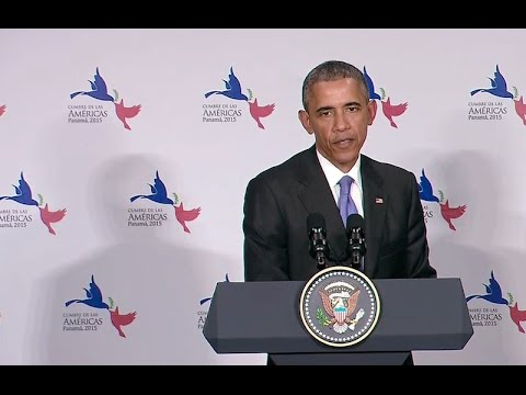 President Obama Participates in a Press Conference After the Summit of the Americas