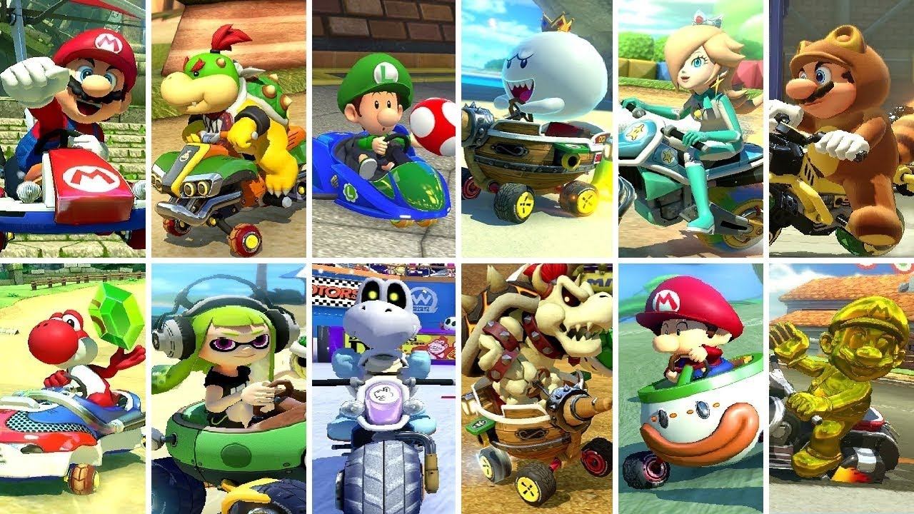 Mario Kart 8 Deluxe All 12 Cups 200cc Youtube