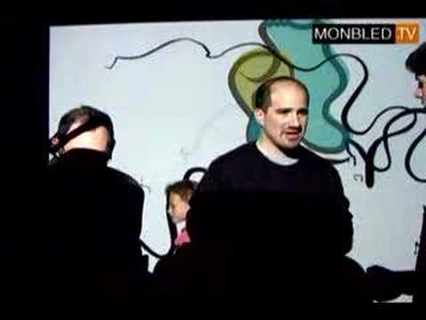 Messa di Voce Installation (French TV interview, 2005)