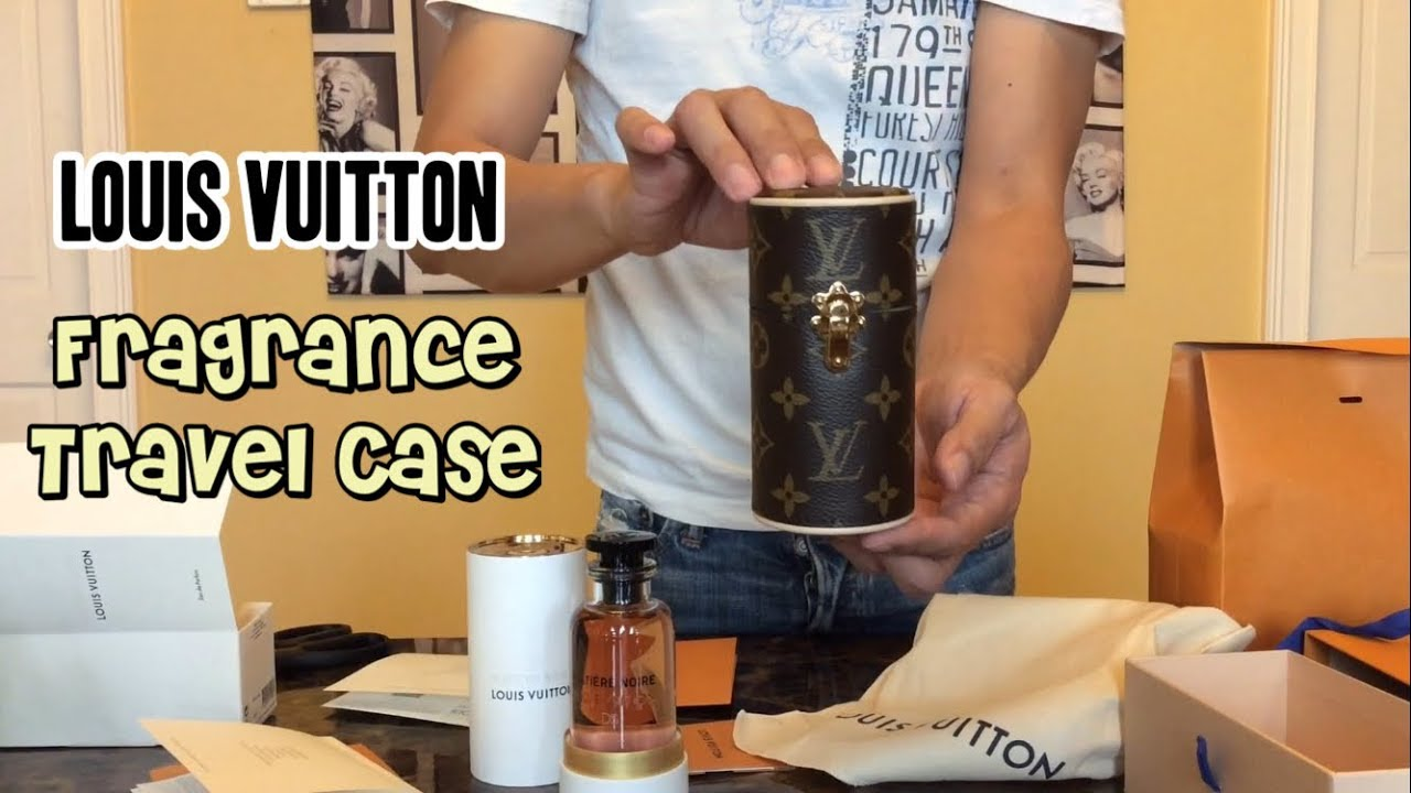 f69e0b464f Louis Vuitton Fragrance Travel Case and Engraved Perfume