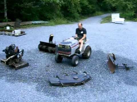 Craftsman GT 18HP 44 Mower Garden Tractor MOV YouTube